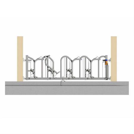 Schweden-Fressgitter für Milchkühe 4 Plätze auf 3 m