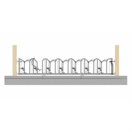 Schweden-Fressgitter für Milchkühe 7 Plätze auf 5 m