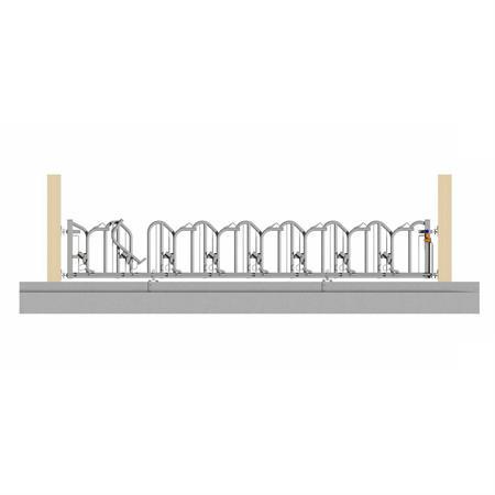 Schweden-Fressgitter für Milchkühe 8 Plätze auf 6 m