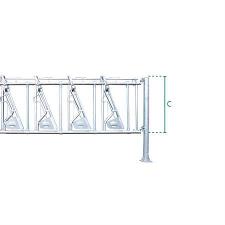 Sicherheits-Selbstfangfressgitter 7 Plätze auf 4,55 m
