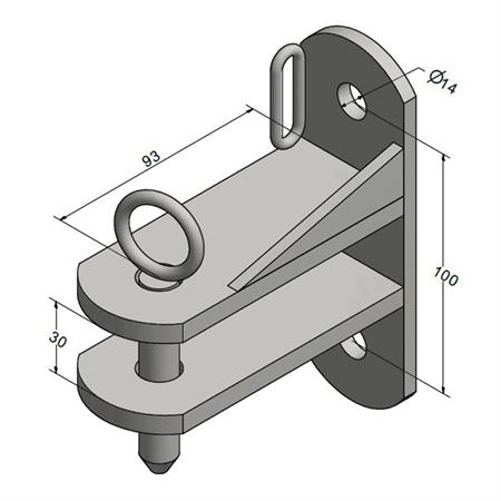 Anschraubteil einfach - verlängerte Ausführung  (2 Stück)