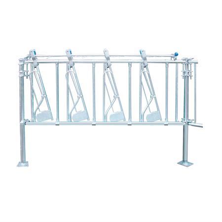 Sicherheits-Selbstfangfressgitter für Kälber 4 Plätze auf 2 m