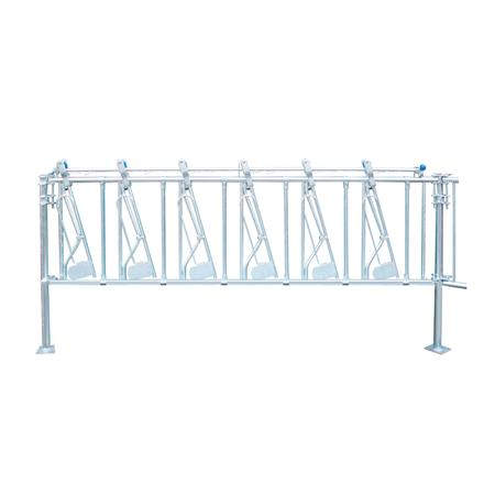 Sicherheits-Selbstfangfressgitter für Kälber 6 Plätze auf 3 m