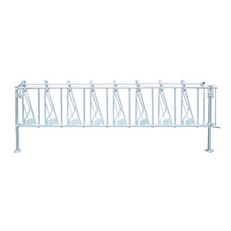 Sicherheits-Selbstfangfressgitter für Kälber 8 Plätze auf 4 m