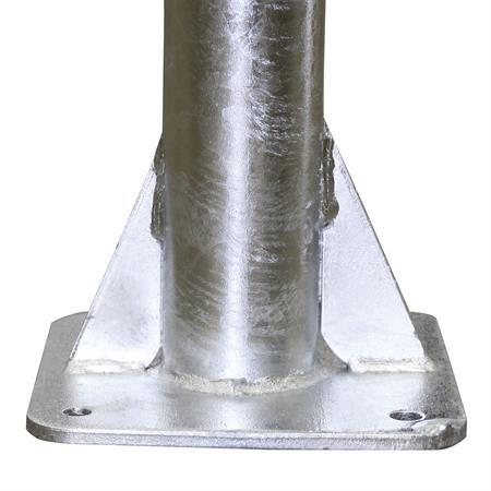 Pfosten Ø 76 mm mit Bodenplatte - 145 cm lang