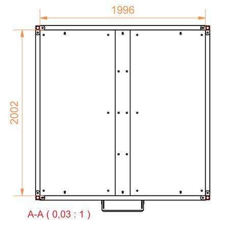Viereckraufe mit Schrägfressgitter 2 x 2 m - 12 Plätze