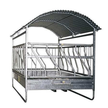 Großballenraufe mit Schrägfressgitter 2 x 3 m - 16 Fressplätze
