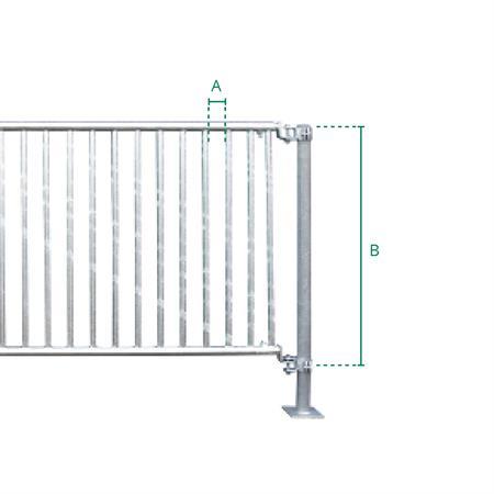 Abtrennung für Ziegen/Kälber 2,5 m