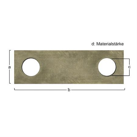 Hammermühlen-Schläger passend zu Ley 128 x 40 x 6,0 mm