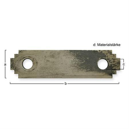 Hammermühlen-Schläger passend zu Skjold 135 x 35 x 6,0 mm (gezackt)
