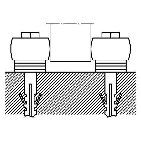Außenführungsrolle Nr. 459 DÜ für 400er Schiene