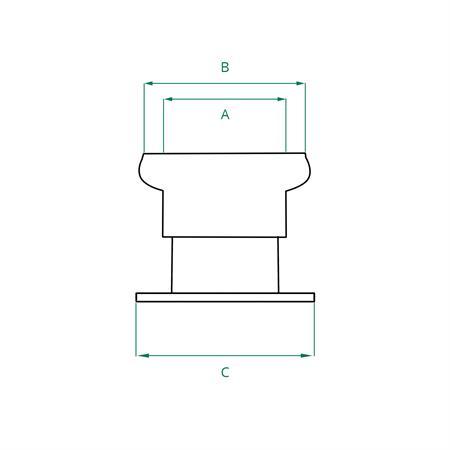 """M-Teil System Perrot NW 133 mm / Flansch 5"""" (kurz)"""
