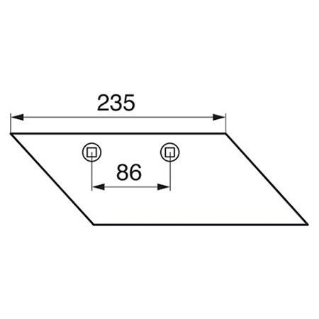 Düngereinlegerschar pass. zu Lemken S 260/270 rechts