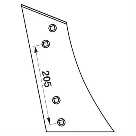Streichblech-Vorderteil pass. zu Lemken BU 2 K rechts
