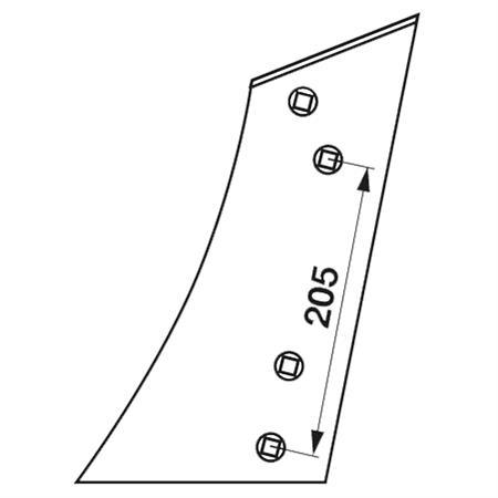 Streichblech-Vorderteil pass. zu Lemken BU 2 K links
