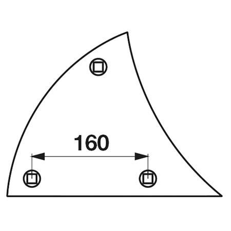 Streichblech-Vorderteil pass. zu Lemken B 2 K rechts