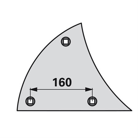 Streichblech-Vorderteil pass. zu Lemken / C 2 K links