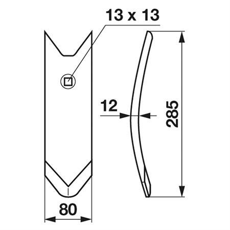 FRANK ORIGINAL Scharspitze 12 mm passend zu Köckerling