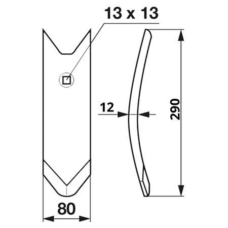 FRANK ORIGINAL Scharspitze 12 mm beschichtet passend zu Köckerling