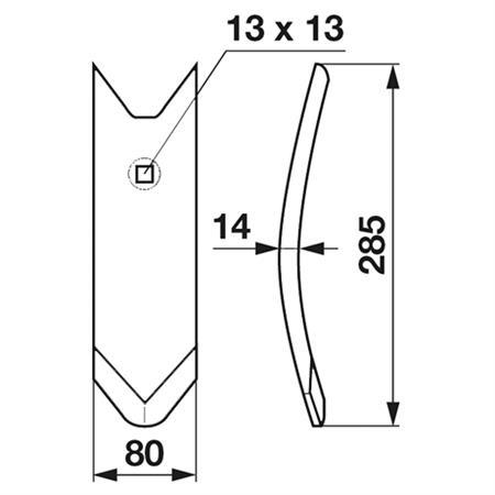FRANK ORIGINAL Scharspitze 14 mm beschichtet passend zu Köckerling