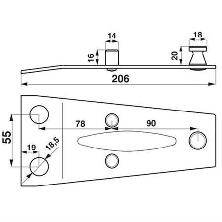 Halteplatte passend zu Deutz-Fahr 0656.3514