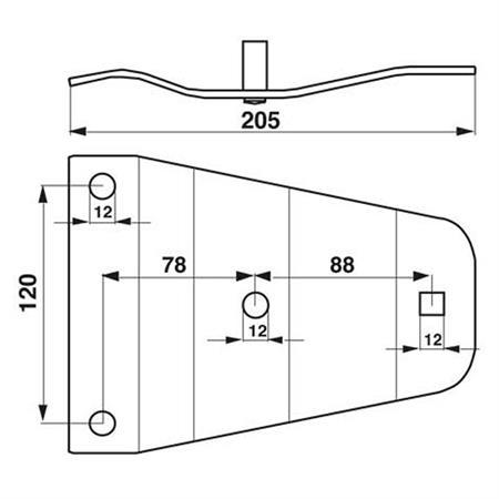 Halteplatte passend zu Fella 478.192 / 101.122