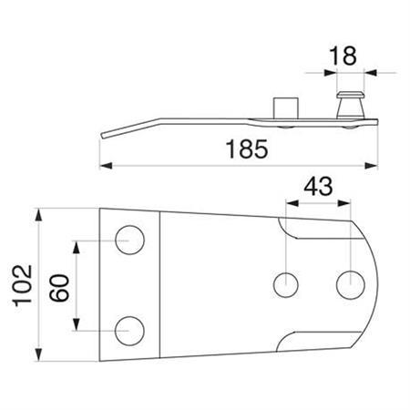 Halteplatte passend zu Fella 122.113 / 140.309