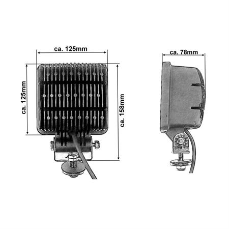 Chip LED-Arbeitsscheinwerfer 2600 Lumen