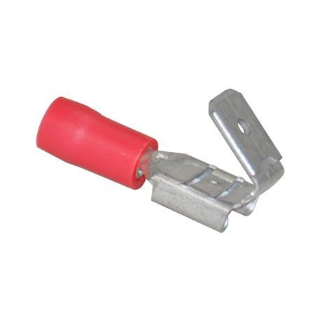 Flachsteckverteiler rot Ø 6,3 mm / 0,5 - 1,5 mm² / 25 Stück