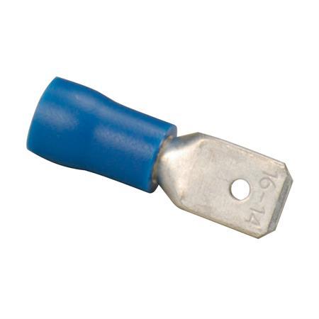 Flachsteckzunge blau Ø 6,3 mm / 1,5 - 2,5 mm² / 25 Stück