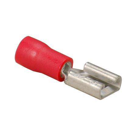 Flachsteckhülse rot Ø 6,3 mm / 0,5 - 1,0 mm² / 100 Stück