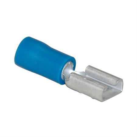 Flachsteckhülse blau Ø 6,3 mm / 1,5 - 2,5 mm² / 100 Stück