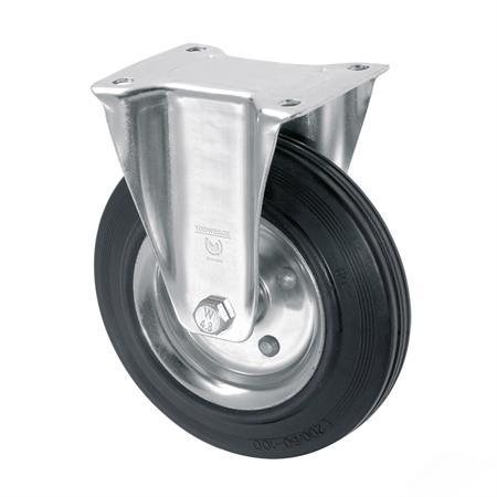 Bockrolle Vollgummi 160 mm