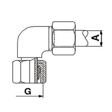 Einstellbare Winkel-Verschraubung 15L