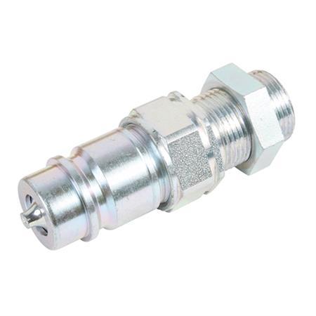 Hydraulik-Stecker 15-L / Gr. 3 mit Schottverschraubung