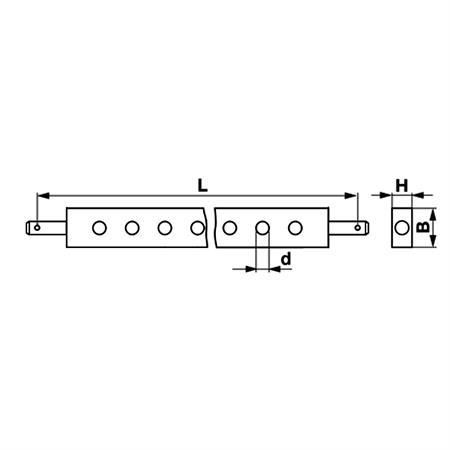 Ackerschiene Kat. 2 / 781x60x30 mm