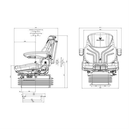 Fahrersitz Grammer Maximo Comfort Plus