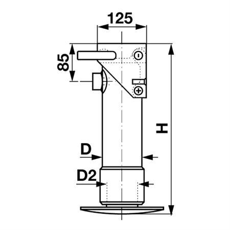 Hydraulischer Stützfuß einfachwirkend