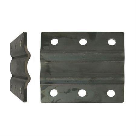 Anbauplatte für Stützrad  156 x 138 mm (6-Loch)