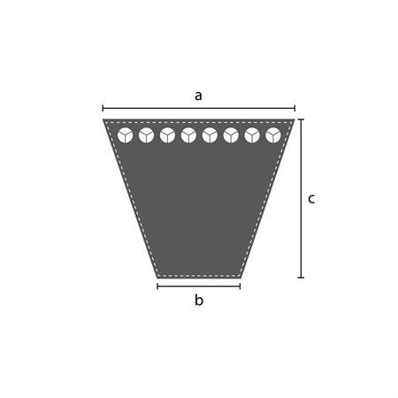 Keilriemen AVX 10 x 625 La