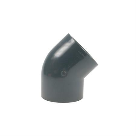 Winkel 45° - 2 x Klebemuffe Ø 125 mm