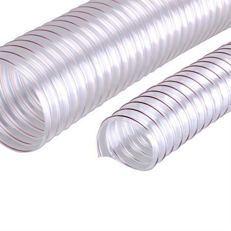 """Stahlspiralschlauch transparent 38 mm (1 1/2"""")"""