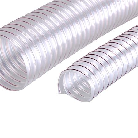 Stahlspiralschlauch transparent 60 mm