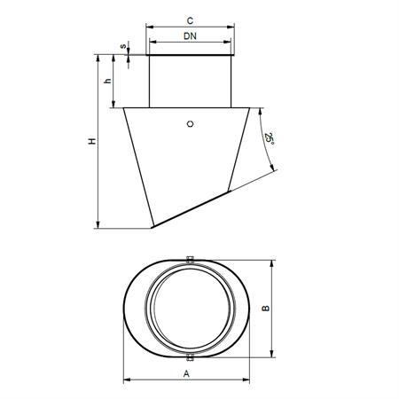 Schwenkkopf Ø 150 mm