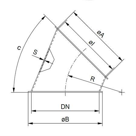 Segment Ø 200 mm -  15°