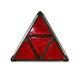 Dreieckrückstrahler GEKA geteilt in schwerer Metallfassung