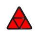 Dreieckrückstrahler GEKA geteilt in Kunststofffassung